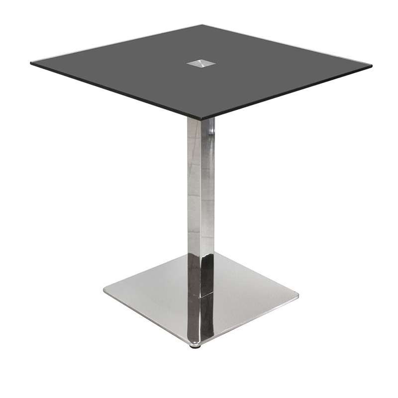Glass Square Table U2013 Clear And Black