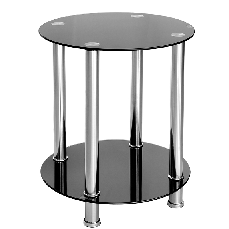 Superb Black Glass Side Table Furniture U0026 Art By Chaisse Limited