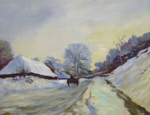 Sleeping road under the snow[HS0432